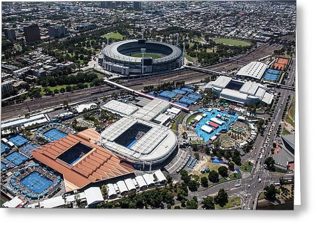 Australian Open Tennis 2015 Greeting Card by Brett Price