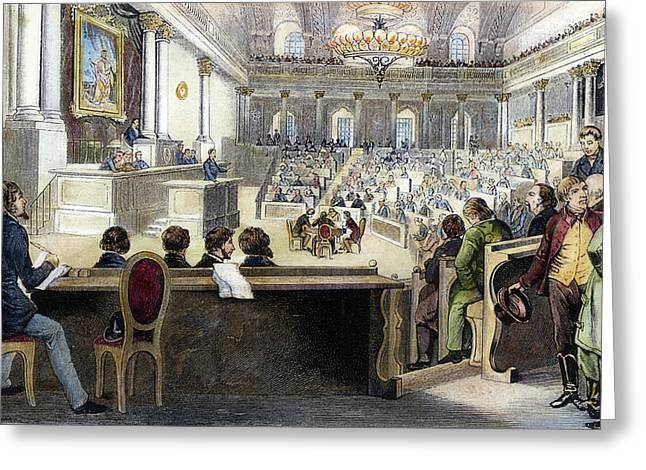 Austrian Assembly, 1848 Greeting Card by Granger