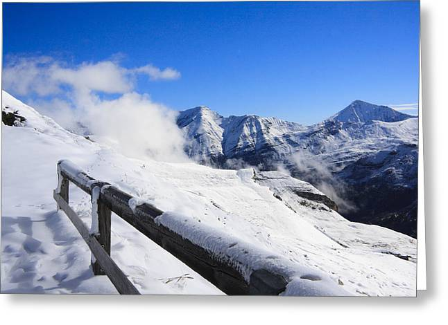Austrian Mountains Greeting Card