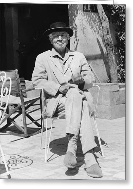 Author Robert Graves Greeting Card
