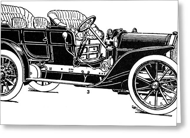 Automobile, 1907 Greeting Card by Granger