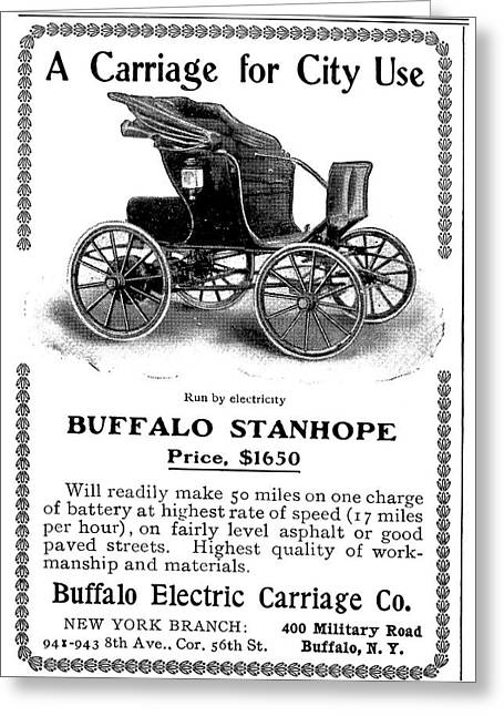 Automobile Ad, 1903 Greeting Card by Granger