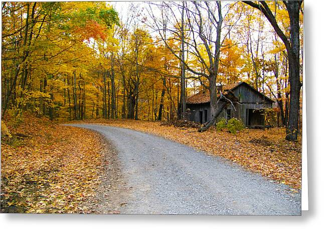 Autumn And The Old House Greeting Card