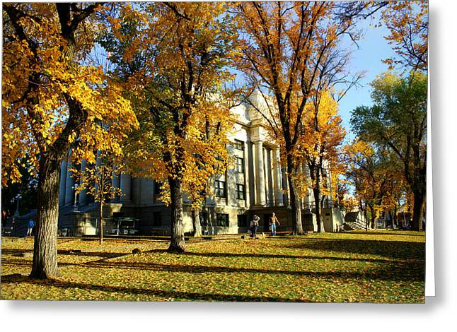 Autumn At The Courthouse Greeting Card