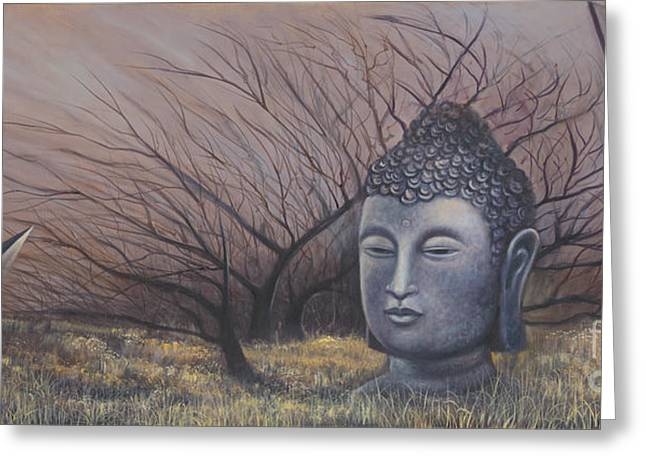 Autumn Buddha Greeting Card