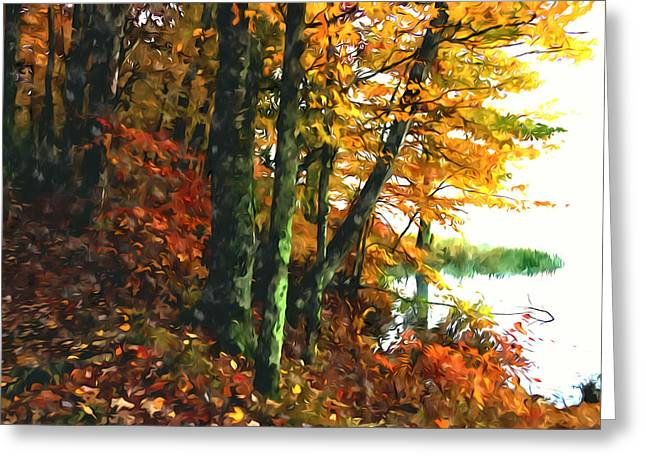 Autumn Colors In The Forest 1 Greeting Card by Lanjee Chee