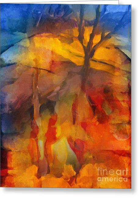 Autumn Colors Greeting Card by Lutz Baar