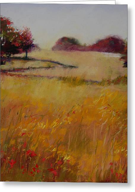 Autumn Field Greeting Card by Jeanne Rosier Smith