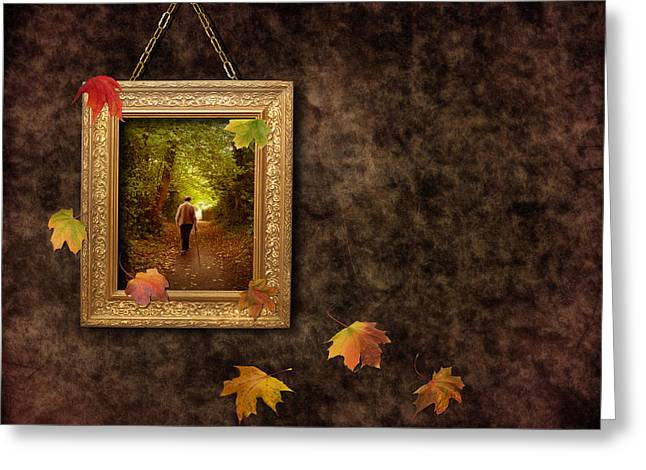 Autumn Frame Greeting Card by Amanda Elwell