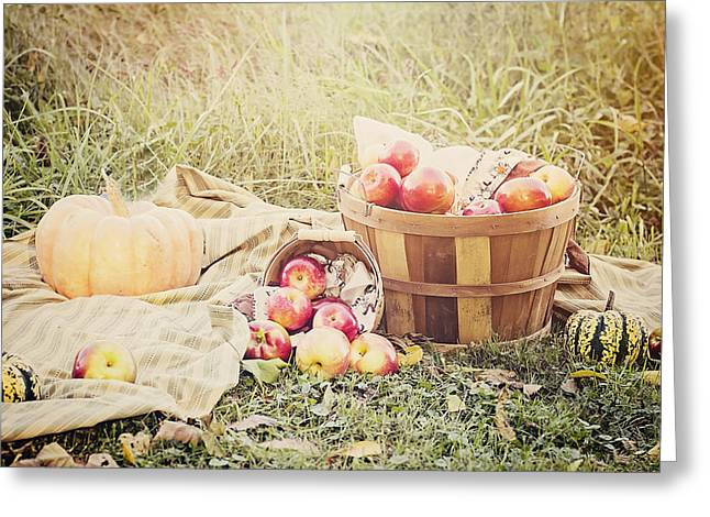 Autumn Harvest Greeting Card by Heather Applegate