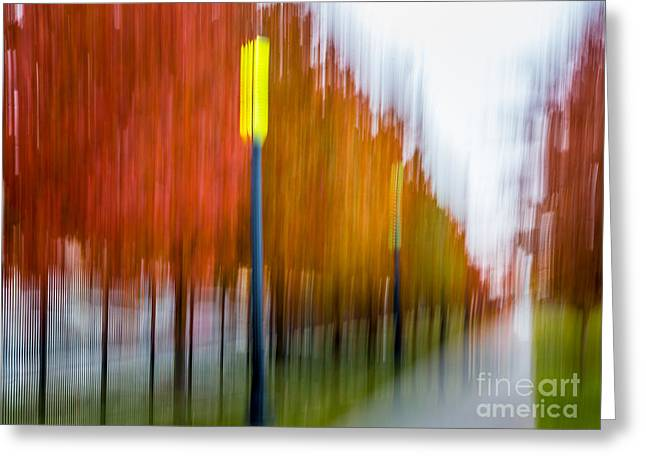 Autumn Park 1 Greeting Card by Susan Cole Kelly Impressions