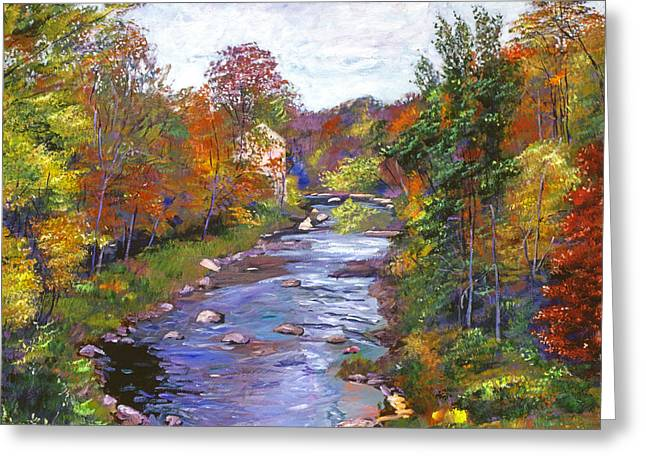 Autumn River Greeting Card by David Lloyd Glover