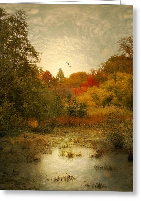 Autumn Wetlands Greeting Card by Jessica Jenney