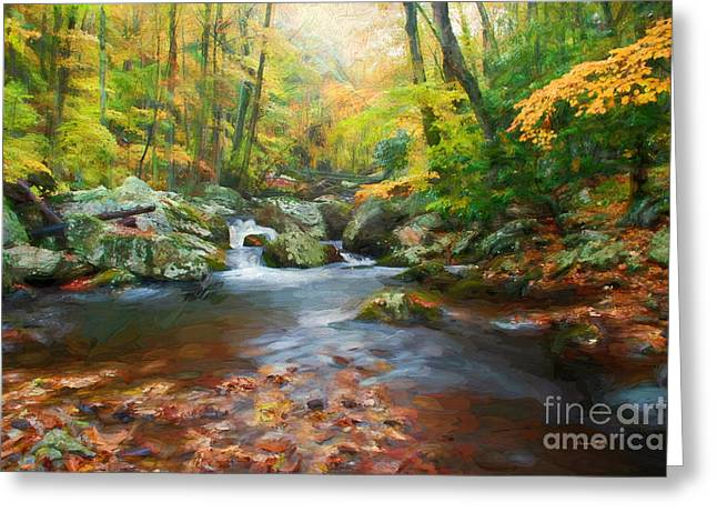 Autumns Calm Greeting Card by Darren Fisher