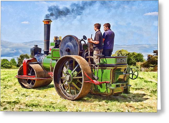 Greeting Card featuring the photograph Aveling Roller by Paul Gulliver