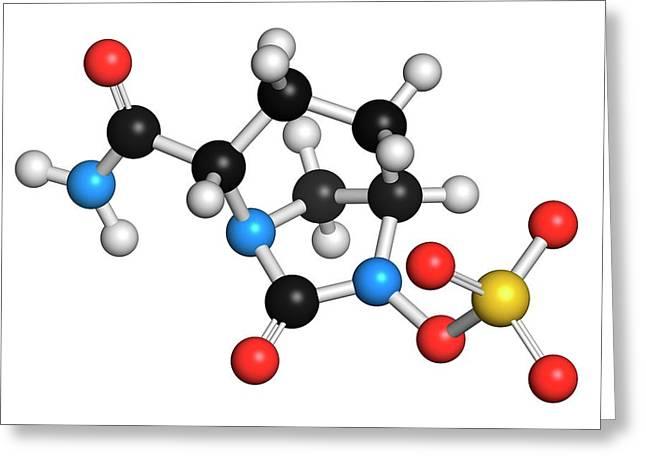 Avibactam Drug Molecule Greeting Card by Molekuul