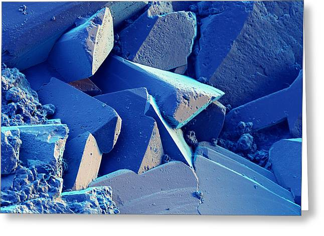 Azurite, Sem Greeting Card by Eye of Science