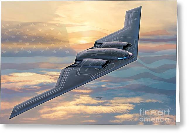 B-2 Spirit Greeting Card by Stu Shepherd