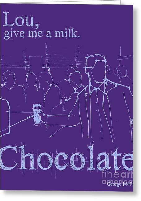 Back To The Future. Lou Give Me A Milk. Greeting Card by Pablo Franchi