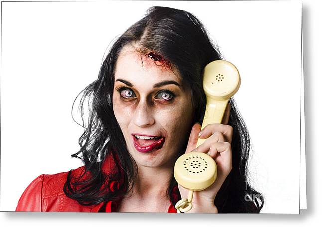 Bad News Phone Call Greeting Card by Jorgo Photography - Wall Art Gallery
