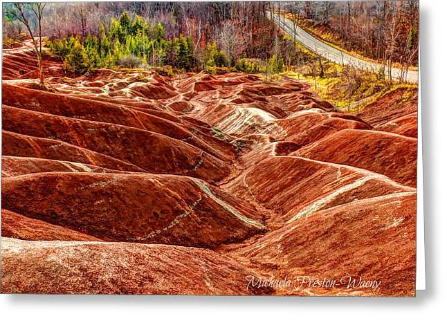 Greeting Card featuring the photograph Badlands by Michaela Preston
