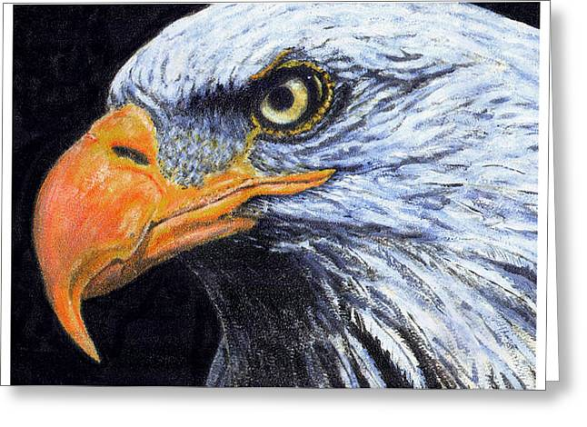Greeting Card featuring the digital art Bald Eagle by David Blank