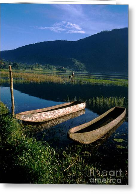 Bali Boats Greeting Card by Jerry McElroy