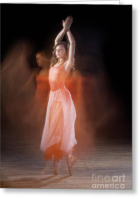 Ballerina Greeting Card by Cindy Singleton