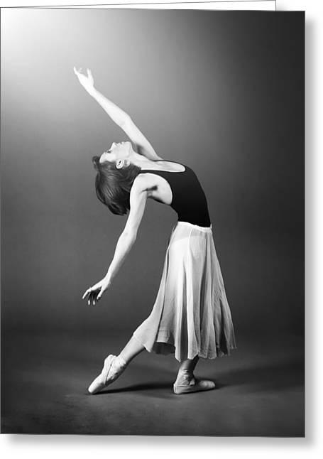 Ballerina Dancing Greeting Card by Artur Bogacki