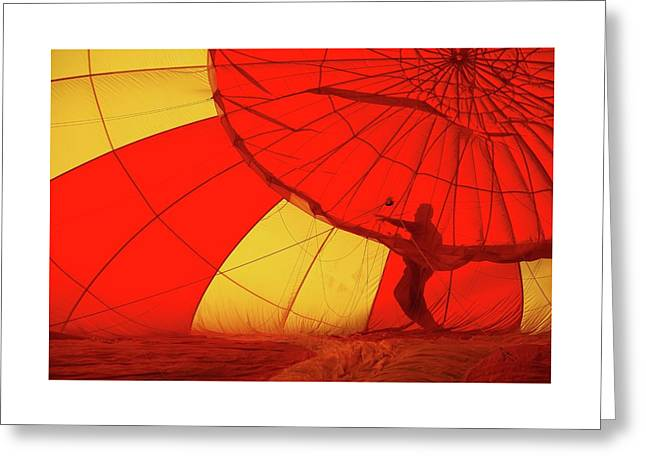 Greeting Card featuring the photograph Balloon Fantasy 2 by Allen Beatty