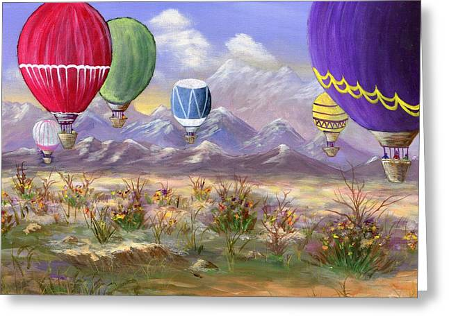 Greeting Card featuring the painting Balloons by Jamie Frier