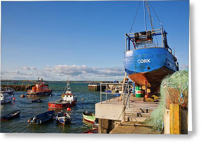 Ballycotton Fishing Harbour,county Greeting Card