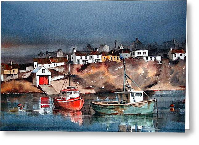 Ballycotton Harbour East Cork Greeting Card