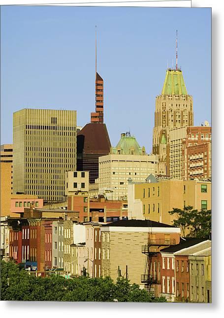 Baltimore Skyline, Maryland Greeting Card
