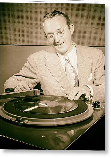 Bandleader Tommy Dorsey 1947 Greeting Card by Mountain Dreams