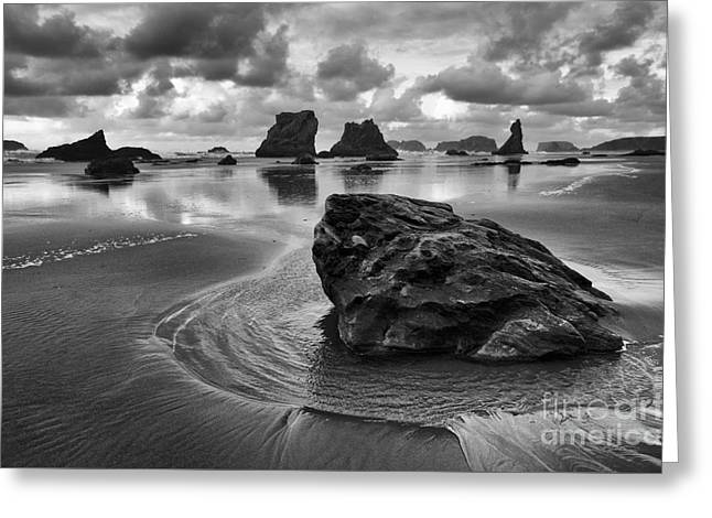 Bandon By The Sea Monochrome 1 Greeting Card by Bob Christopher