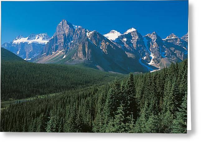 Banff National Park Alberta Canada Greeting Card by Panoramic Images