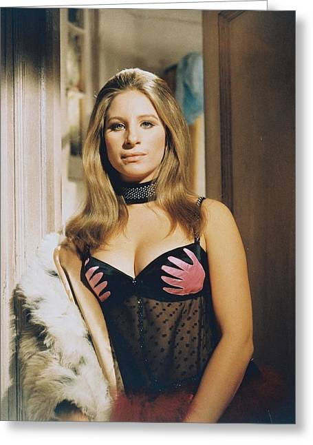 Barbra Streisand In The Owl And The Pussycat Greeting Card by Silver Screen