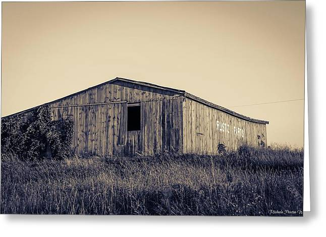 Barn Greeting Card by Michaela Preston
