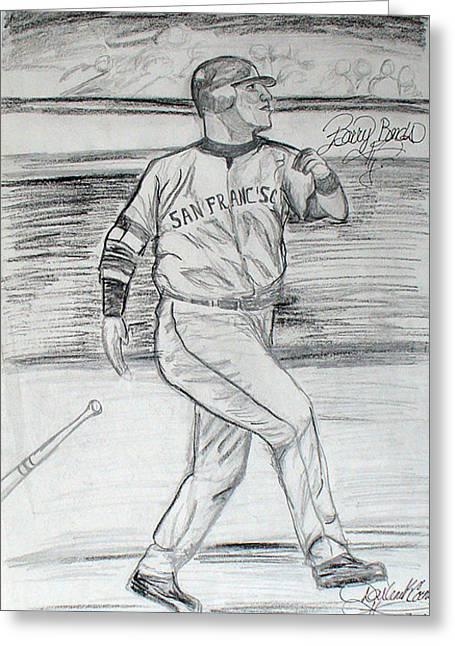 Barry Bonds Greeting Card by Darlene Ricks- Parker