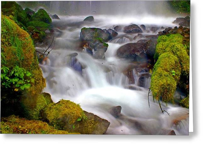 Base Of The Falls Greeting Card by Marty Koch