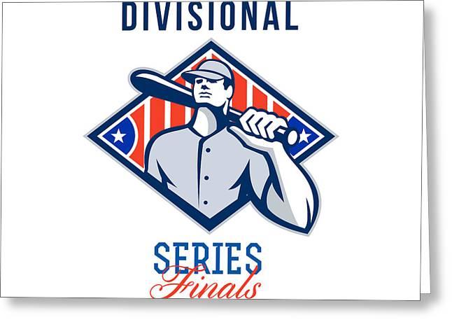 Baseball Divisional Series Finals Retro Greeting Card