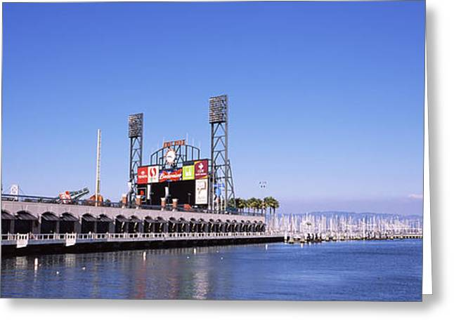 Baseball Park At The Waterfront, At&t Greeting Card by Panoramic Images