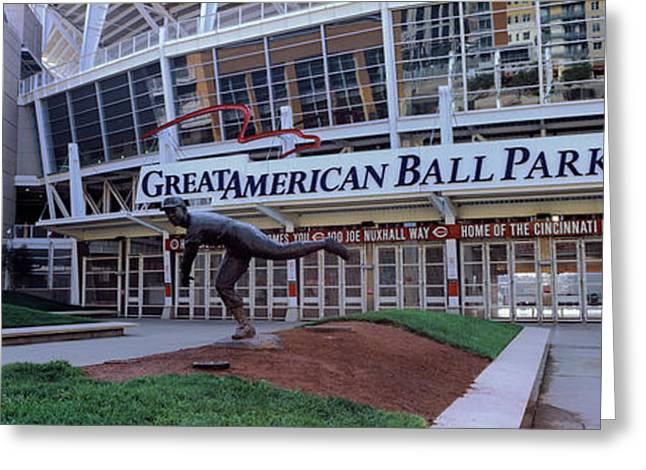 Baseball Stadium, Great American Ball Greeting Card by Panoramic Images