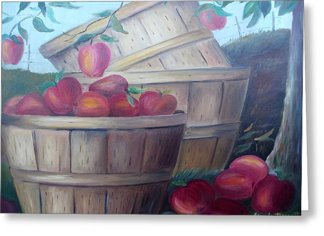 Baskets Of Apples Greeting Card by Glenda Barrett
