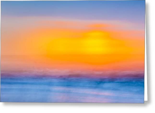 Bathing Corp Sunrise 6 Greeting Card by Ryan Moore