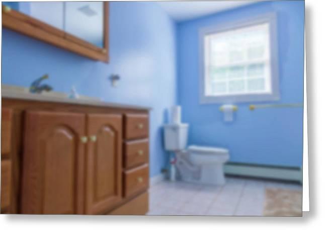 Bathroom Interior Greeting Card