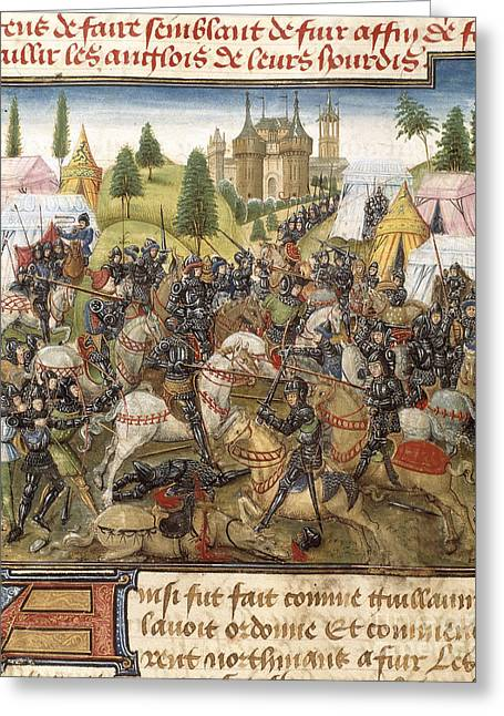 Battle Of Hastings Greeting Card by British Library