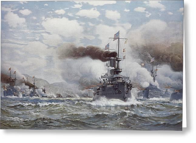 Battle Of Santiago, 1898 Greeting Card by Granger