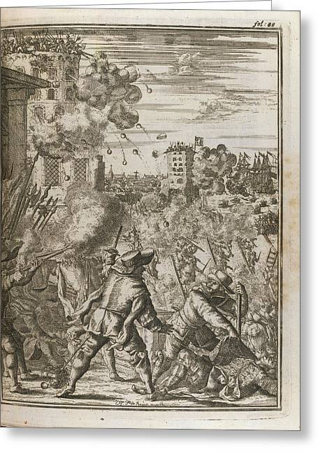Battle Scene Greeting Card by British Library